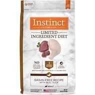 Instinct by Nature's Variety Limited Ingreident Grain-Free Diet with Real Duck Dog Food (20lb) for Adult / Puppy / Senior