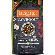 Instinct by Nature's Variety Raw Boost Grain-Free Recipe with Real Venison Adult / Puppy / Senior Dog Food (4lb - 20lb)