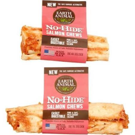 Earth Animal No-Hide Salmon Chew (4