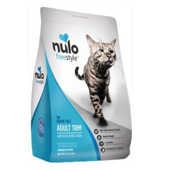 Nulo Freestyle Salmon & Lentils Recipe Grain-Free Adult Trim Dry Cat Food 5lb