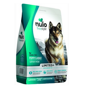 Nulo Freestyle Limited+ Salmon Recipe Grain-Free Puppy & Adult Dry Dog Food 4lb