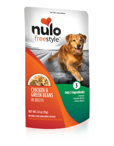Nulo FreeStyle Dog Pouch Chicken, Green Beans in Broth (1 Packet. 2.8oz)