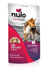 Nulo FreeStyle Dog Pouch Lamb, Saba, Kelp in Broth (1 Packet. 2.8oz)