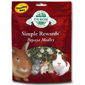 Oxbow Simple Rewards Treats Papaya Medley 2.5 oz