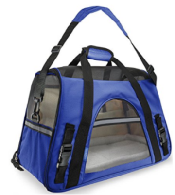 Oxgord Pet Carrier with Fleece Bed - Most Airline Approved (Dark Blue) - Qualifies for No Minimum Order +Free Yuba City Ship