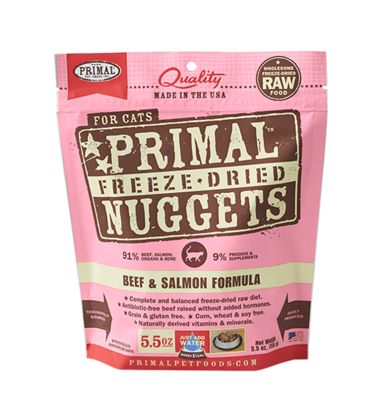 Primal Cat Freeze-Dried Raw Beef & Salmon 5.5oz