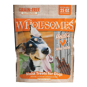 Wholesomes Dog Treats Heidi Chicken Gluten Free Jerky Sticks 25oz Bag
