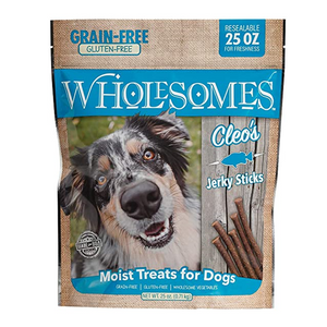 Wholesomes Dog Treats Cleo's Gluten Free Jerky Sticks 25oz Bag