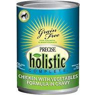 Precise Holistic Complete Chicken with Vegetables Formula in Gravy Grain-Free Canned Dog Food, 13.2-oz