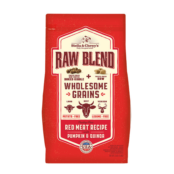 Stella & Chewy's Wholesome Grains Red Meat Raw Blend Kibble 22lb