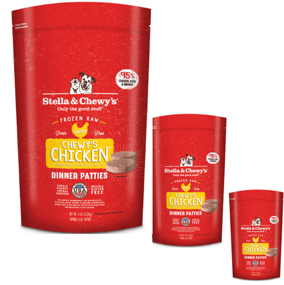 Stella & Chewy's Frozen Chicken Dinner Patties (3lb, 12lb)