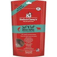 Stella & Chewy's Surf 'N Turf Dinner Patties Grain-Free Freeze-Dried Dog Food for All Ages (14oz) - Qualifies for No Minimum Order +Ship Free in Yuba City