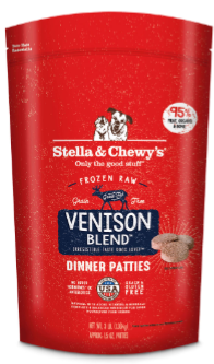 Stella & Chewy's Frozen Venison Blend Patties 6lb
