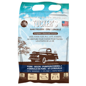 Tucker's Frozen Raw Dog Food: Pork-Bison-Pumpkin 6lb