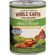 Whole Earth Farms Grain Free Adult Recipe Canned Dog Food, 12.7-oz (For all ages & dog breeds)