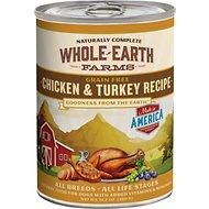Whole Earth Farms Grain Free Chicken & Turkey Recipe Canned Dog Food, 12.7-oz