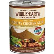 Whole Earth Farms Grain Free Hearty Chicken Stew Canned Dog Food, 12.7-oz (For all ages & dog breeds)
