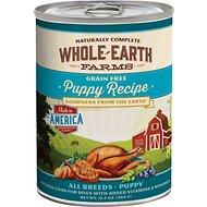 Whole Earth Farms Grain Free Puppy Recipe Canned Dog Food, 12.7-oz (For all ages & dog breeds)