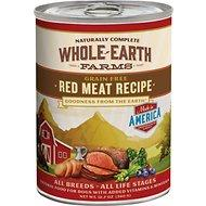 Whole Earth Farms Grain Free Red Meat Recipe Canned Dog Food, 12.7-oz (For All ages and dog breeds)