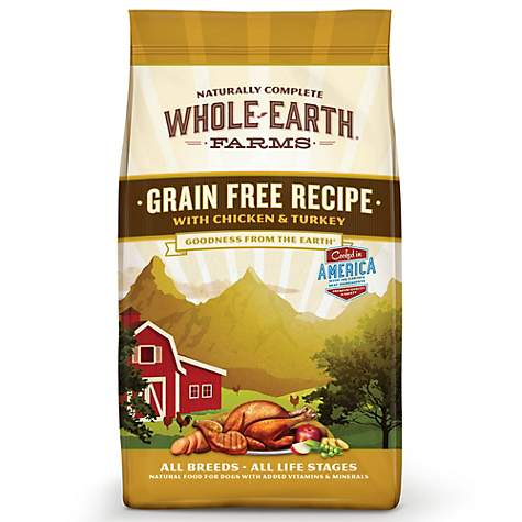 Whole Earth Farms Grain Free Chicken & Turkey, +Organic Alfafa & Salmon Oil Dog Food - Qualifies for No Minimum Order +Ship Free to Yuba City