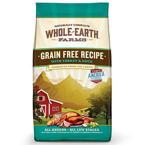 Whole Earth Farms Grain Free Duck +Organic Alfafa & Salmon Oil Dog Food - Qualifies for No Minimum Order +Ship Free to Yuba City