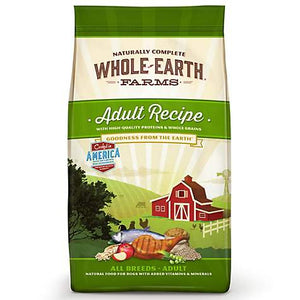 Whole Earth Farms Adult (No Corn, Soy & Wheat), +Organic Alfafa & Salmon Oil Dog Food - Qualifies for No Minimum Order +Ship Free to Yuba City