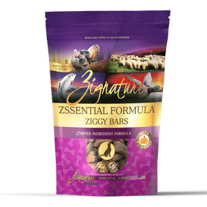 Zignature Zssential Formula Ziggy Bars Biscuit Dog Treats 12oz bag