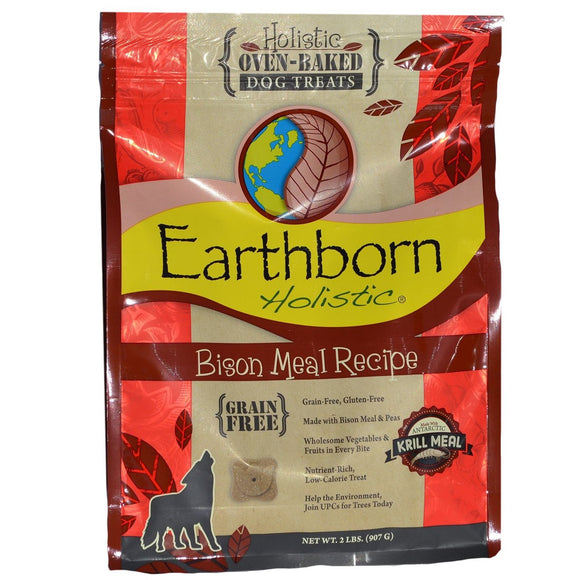Out of Stock Earthborn Holistic Oven-Baked Grain Free Treats Bison Meal (2 lb)