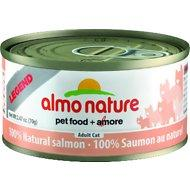Almo Nature Legend 100% Natural Salmon Wet Cat Food Case (2.47 oz can)