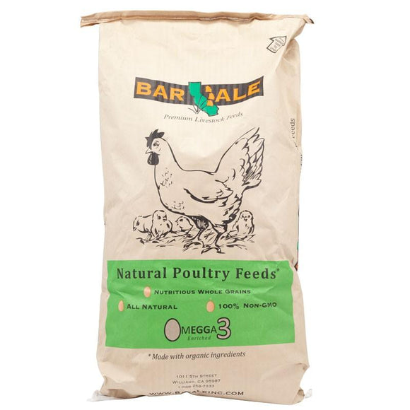 STORE PICKUP ONLY - Bar Ale Non-GMO Organic 17% Soy Free Corn Free Layer Pellet Chicken Food 40lb