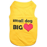 Parisian Pet Small Dog Big Heart Dog T-Shirt XL