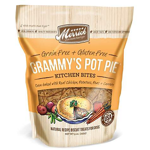 Merrick Kitchen Bites Grammy's Pot Pie Grain-Free Biscuits Dog Treats 9oz Bag