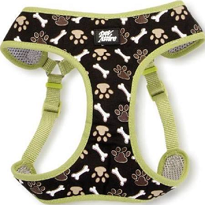 Coastal Pet Attire Designer Wrap Adjustable Harness Paws & Bones (XXS)