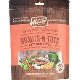 Merrick Kitchen Bites Brauts-n-Tots Grain-Free Biscuits Dog Treats 9oz bag