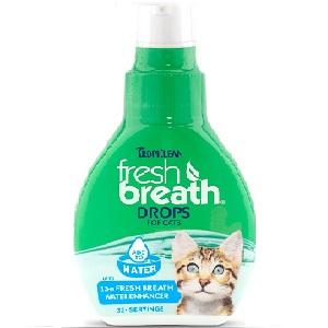 Tropiclean Fresh Breath Drops for Cats 2.2 oz Bottle