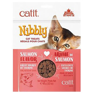 Catit Nibbly Treat Salmon Cat Treats 3.2oz