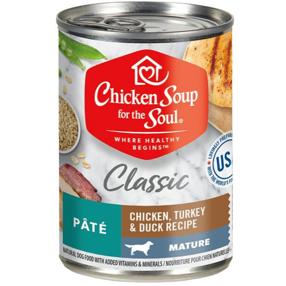 Chicken Soup Canned Food for Mature Dog 13.2oz