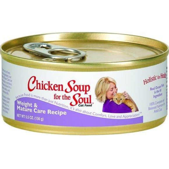 Chicken Soup for the Soul Weight & Mature Care Canned Cat Food, 5.5-oz