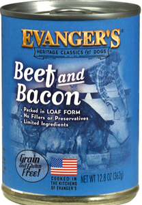 Evanger's Classic Beef & Bacon Dinner Canned Dog Food 12.8oz