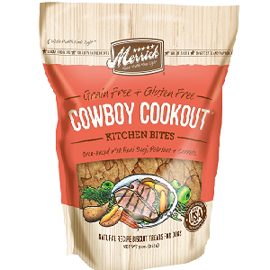 Merrick Kitchen Bites Cowboy Cookout Grain-Free Biscuits Dog Treats 9oz bag