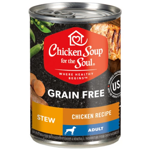Chicken Soup for the Soul Chicken & Duck Stew Grain-Free Canned Dog Food, 13-oz