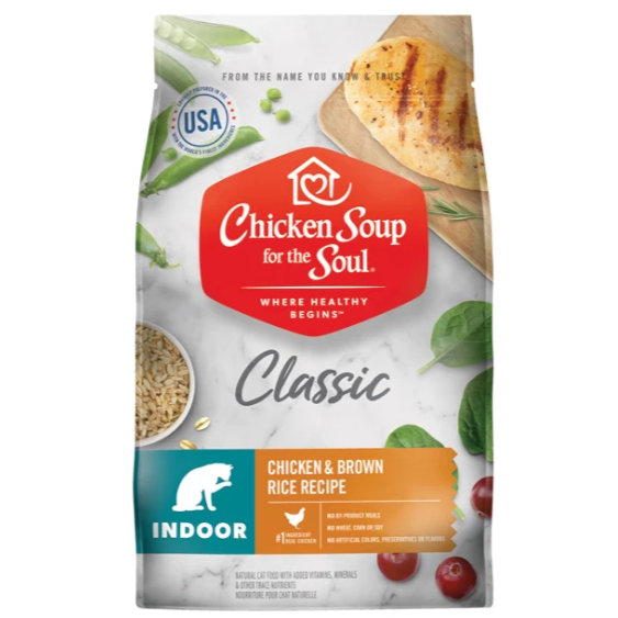 Chicken Soup for the Soul Indoor with Hairball Care Dry Cat Food