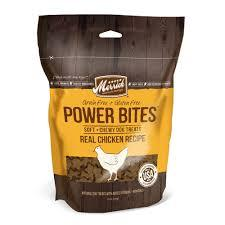 Merrick Power Bites Real Chicken Recipe Grain-Free Soft & Chewy Dog Treats