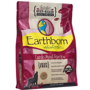 Earthborn Holistic Oven-Baked Grain Free Treats Lamb Meal  (14 oz - 2 lb)