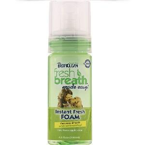 Tropiclean Fresh Breath Mint Foam 4.5 oz Bottle