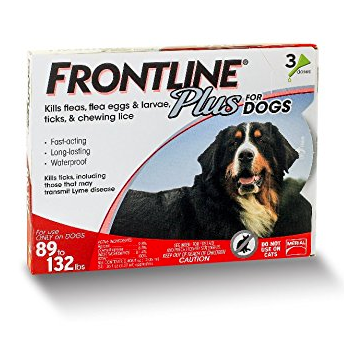 Frontline Plus Dog 89 - 132lb 3 - 6 Doses