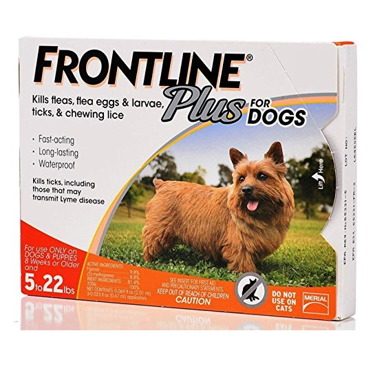 Frontline Plus Dog Up to 22lbs 3 - 6 Doses