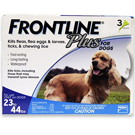 Frontline Plus Dog 23 - 44lb  3 - 6 Doses
