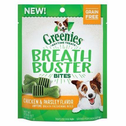 Greenies Breath Buster Bites Chicken & Parsley Flavor 2.5 - 11oz