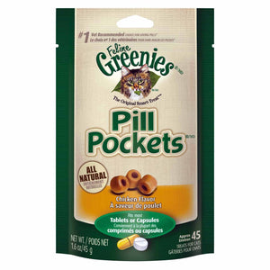 Greenies Pill Pockets Feline Chicken Flavor Cat Treats, 1.6-oz